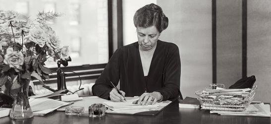 Eleanor Roosevelt haciendo una lista de cosas bonitas