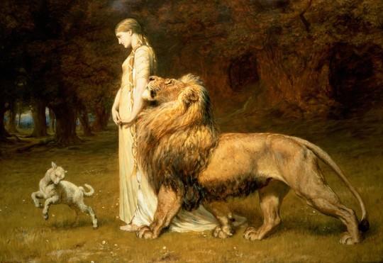 Briton Riviere Una yel leon.jpg