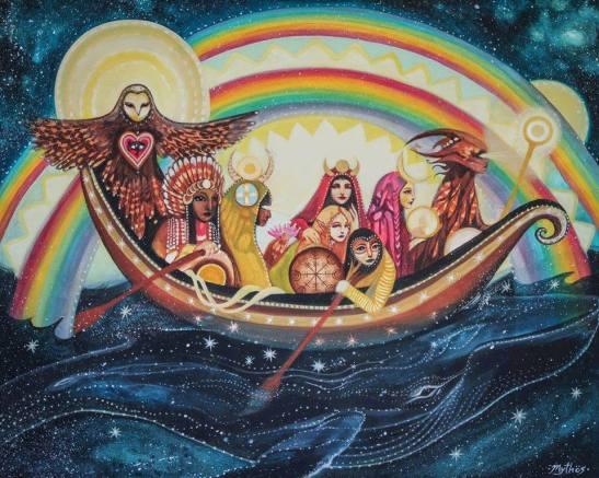 goddesses-travelling-the-seaart-by-tessa-mythos